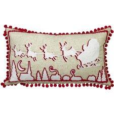 Urban Loft Xmas Sleigh Lumbar Pillow