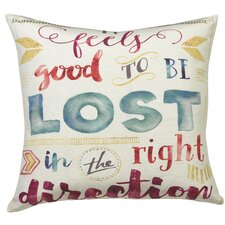 Urban Loft Lost Direction Throw Pillow