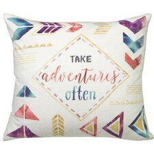 Urban Loft Take Adventurous Throw Pillow