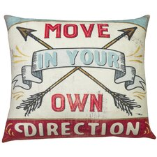 Urban Loft Move Direction Throw Pillow