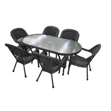 7 Piece Resin Wicker Patio Dining Set