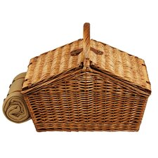 Huntsman Basket for Four with Blanket in London