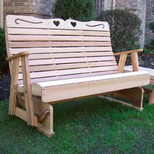 Country Hearts Wood Garden Bench