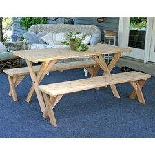 #1 Cedar 3 Piece Dining Set