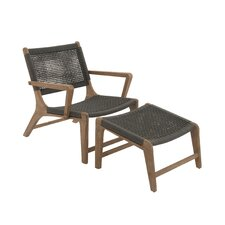 Justin 2 Piece Lounge Chair and Ottorman Set