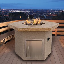 Dining Height Hexagon Gas Fire Pit Table