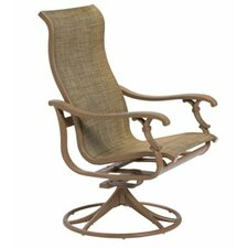 Coupon Ravello Sling High Back Swivel Rocking Chair