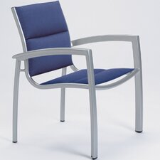 South Beach Padded Sling Stacking Dining Arm Chair