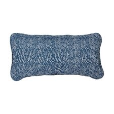 Stella Navy Herringbone Indoor/Outdoor Lumbar Pillow (Set of 2)