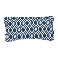 Stella Navy Wavy Indoor/Outdoor Lumbar Pillow (Set of 2)