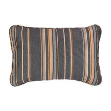 Corded Mulit-Colored Stripe Outdoor Lumbar Pillow (Set of 2)