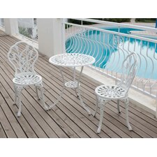 Tulip 3 Piece Bistro Set