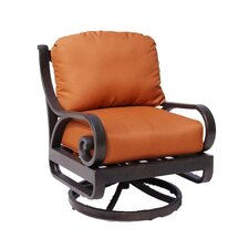 Carlisa Club Swivel Rocking Chair with Cushions