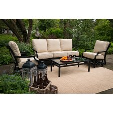 Today Sale Only Villa 4 Piece Deep Seating Group with Cushion