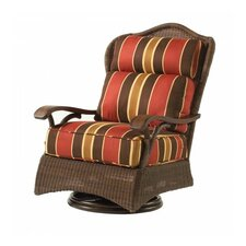 Herry Up Chatham Swivel Lounge Rocking Chair with Cushions