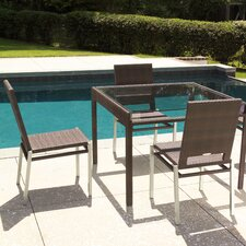 Top Reviews All-Weather Pacific Square Dining Table with Glass Top