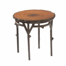 Chatham Heartwood Round End Table with Faux Top