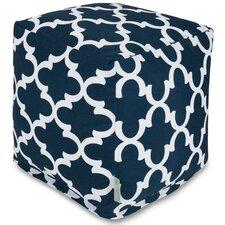 Trellis Cube Pouf Ottoman