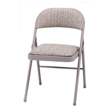 Deluxe Fabric Padded Folding Chair (Set of 4)
