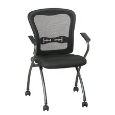 ProLine II Deluxe Folding Chair with ProGrid Back and Arms in Titanium (2-Pack)