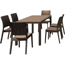 Great Reviews Orlando Wickerlook 7 Piece Dining Set