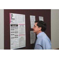 Burlap Covered Wall Mounted Bulletin Board