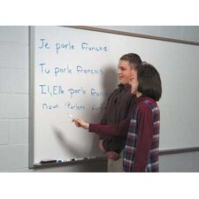 Contractor's Series Wall Mounted Magnetic Whiteboard, 4' H x 12' W