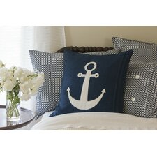 Anchor Porch Linen Throw Pillow