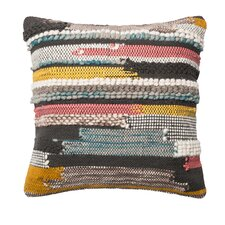 Textured Cotton/Wool Throw Pillow