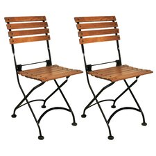 European Caf? Folding Side Chair (Set of 2)