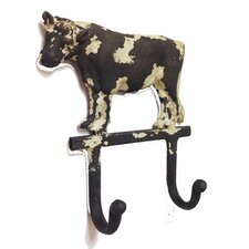 Store It Cast Iron Cow Double Wall Hook