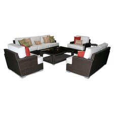 Signature 5 Piece Deep Seating Group with Cushions