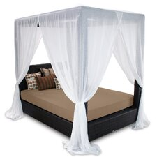 Comparison Signature Queen Canopy Bed with Cushions