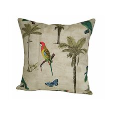 Coastal Hearts of Palm Indoor/Outdoor Throw Pillow