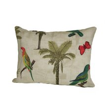 Coastal Hearts of Palm Outdoor Lumbar Pillow