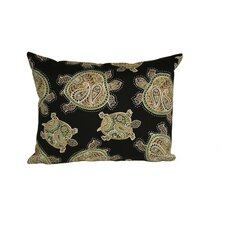 Coastal Tranquil Turtles Outdoor Lumbar Pillow