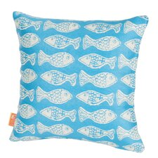 Coastal Fish Tales Indoor/Outdoor Throw Pillow