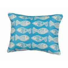 Coastal Fish Tales Indoor/Outdoor Lumbar Pillow