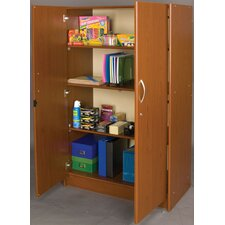 Vos System Jumbo Teacher 4 Compartment Classroom Cabinet with Doors