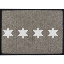 Easy Clean Stars Doormat