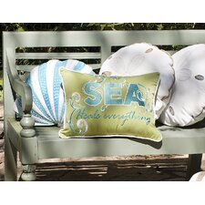 I Sea Life Sand Dollar Outdoor Sunbrella Throw Pillow
