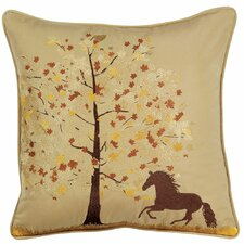 Abigail and Lily Equine Fall Frolic Horse Indoor/Outdoor Sunbrella Throw Pillow