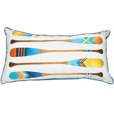 Lake Retreat Oars Outdoor Sunbrella Throw Pillow