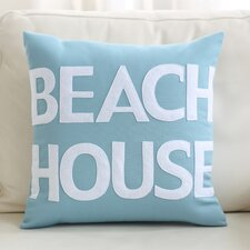 Beach House Outdoor Throw Pillow