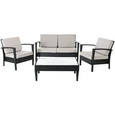 Wonderful Steinman 4 Piece Deep Seating Group with Cushions
