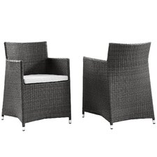 Everett Patio Arm Chair with Cushion (Set of 2)