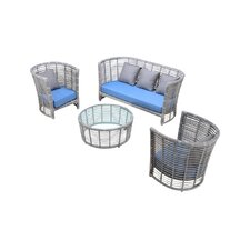 Kettle 4 Piece Deep Seating Group with Cushions