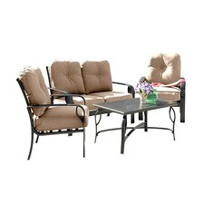 Sereno Bay 4 Piece Deep Seating Group with Cushions