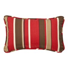 Outdoor Floral & Striped Lumbar Pillow (Set of 2)