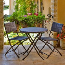 Wicker 3 Piece Bistro Set
